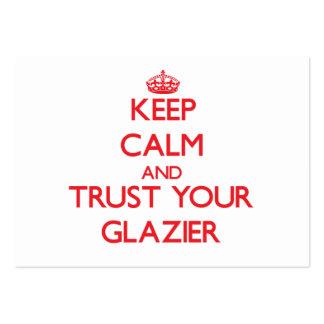 Mantenha a calma e confie seu vidraceiro cartão de visita grande