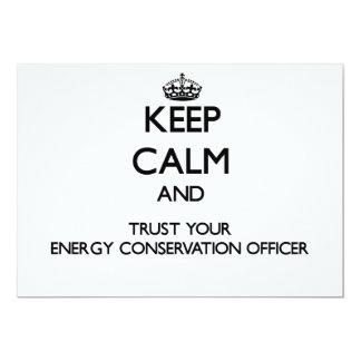 Mantenha a calma e confie sua conservação de convite 12.7 x 17.78cm