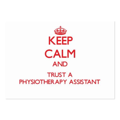Mantenha a calma e confie um assistente de Physioa Cartoes De Visita
