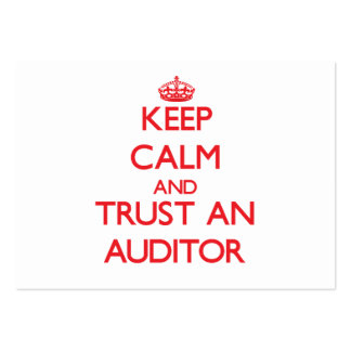 Mantenha a calma e confie um auditor modelos cartao de visita