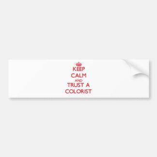 Mantenha a calma e confie um Colorist Adesivo Para Carro