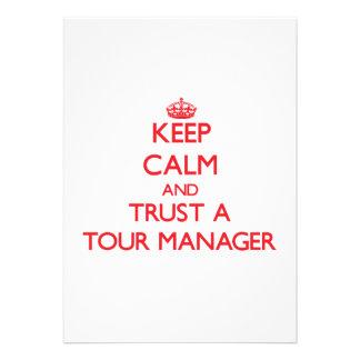 Mantenha a calma e confie um gerente da excursão convites