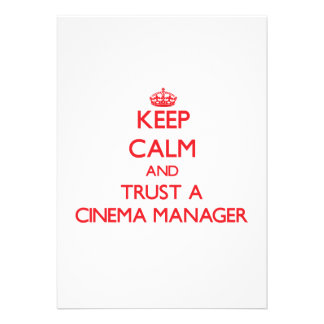 Mantenha a calma e confie um gerente do cinema convite