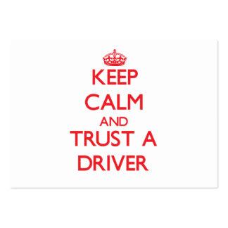 Mantenha a calma e confie um motorista cartao de visita