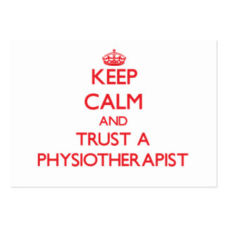 Mantenha a calma e confie um Physioarapist Modelos Cartoes De Visita