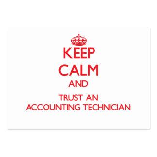Mantenha a calma e confie um técnico da contabilid cartões de visita
