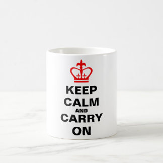 Mantenha a calma e continue caneca de café