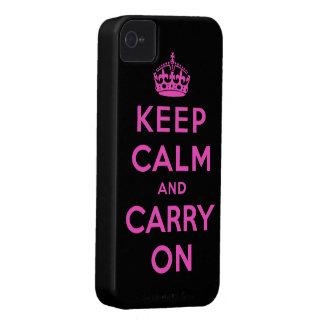 mantenha a calma e continue capinha iPhone 4