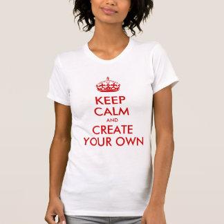 Mantenha a calma e continue criam seu próprio verm tshirts
