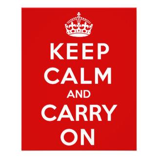 Mantenha a calma e continue flyer 11.43 x 14.22cm