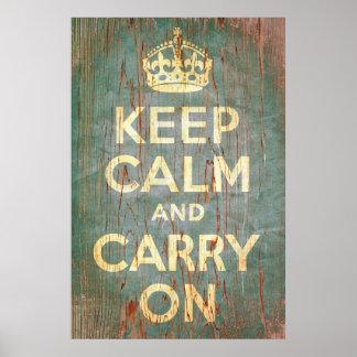 Mantenha a calma e continue o impressão