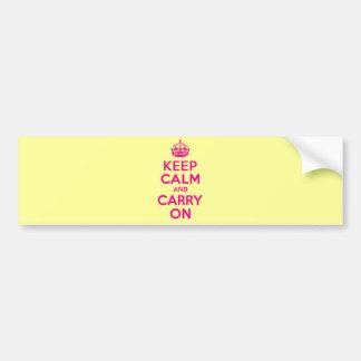 Mantenha a calma e continue o melhor preço do rosa adesivo para carro