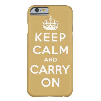 mantenha a calma e continue o original capa barely there para iPhone 6