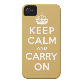 mantenha a calma e continue o original capa para iPhone 4 Case-Mate