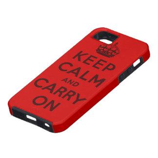 mantenha a calma e continue o original capa para iPhone 5