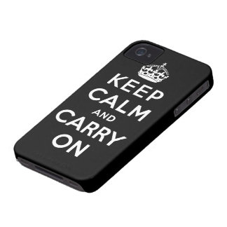 mantenha a calma e continue o original capinhas iPhone 4