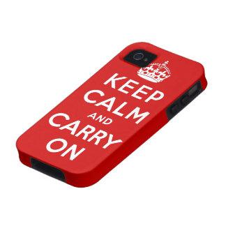 mantenha a calma e continue o original capinhas iPhone 4/4S
