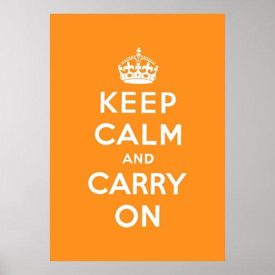mantenha a calma e continue o original pôster