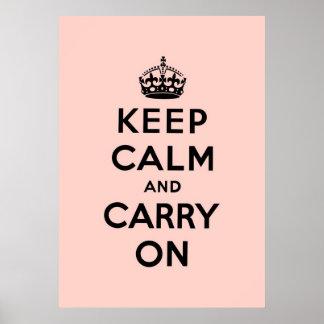 mantenha a calma e continue o original posteres