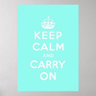 mantenha a calma e continue o original impressão