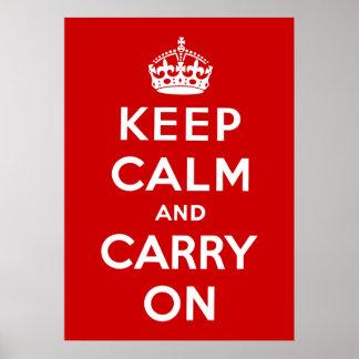 Mantenha a calma e continue posteres