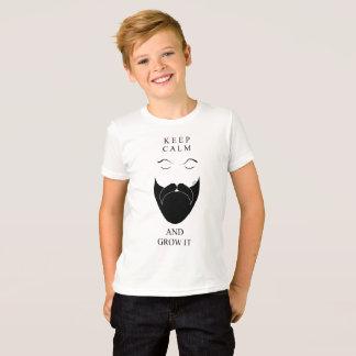 Mantenha a calma e cresça-a camiseta
