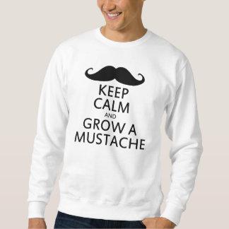 Mantenha a calma e cresça um bigode moletom