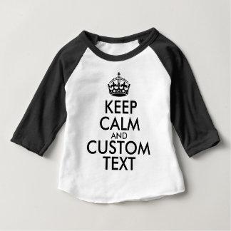 Mantenha a calma e criar seus próprios fazem para camiseta para bebê