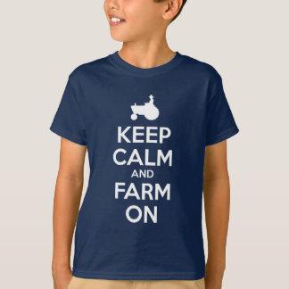 Mantenha a calma e cultive-a na camisa de t