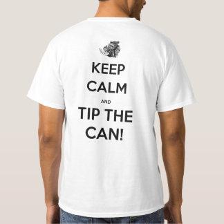'Mantenha a calma e derrube não pode camisa
