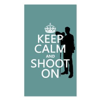 Mantenha a calma e dispare-a em (fotos) (alguma co cartões de visita
