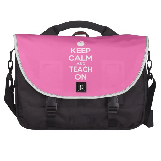 Mantenha a calma e ensine-a no slogan mochila para laptop