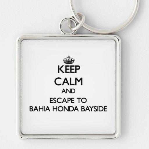 Mantenha a calma e escape a Baía Honda Bayside Chaveiro