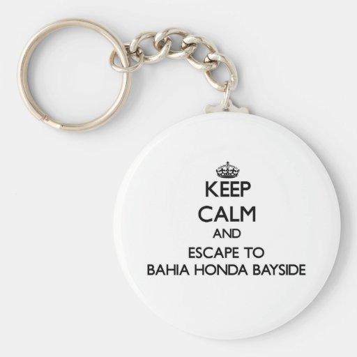 Mantenha a calma e escape a Baía Honda Bayside Chaveiros