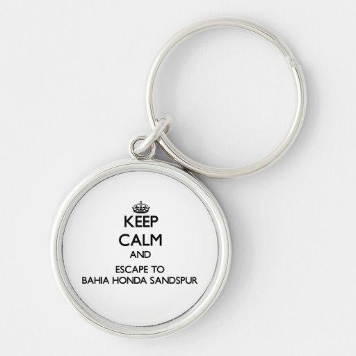 Mantenha a calma e escape a Baía Honda Sandspur Chaveiros