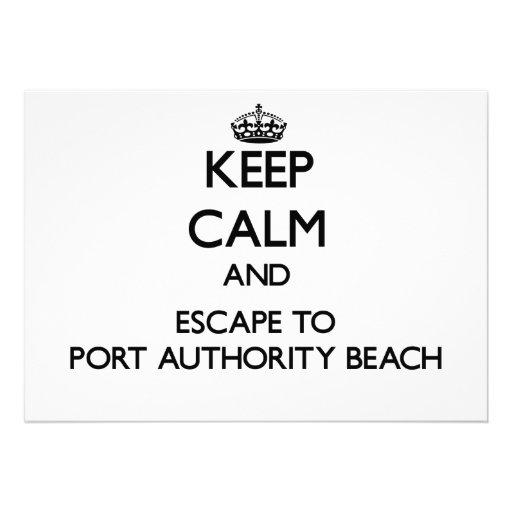 Mantenha a calma e escape à praia Guam da Convite Personalizado