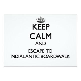 Mantenha a calma e escape ao passeio à beira mar convite personalizado
