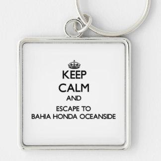 Mantenha a calma e escape ao perto do oceano Flor Chaveiros