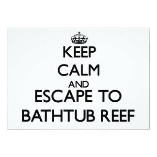 Mantenha a calma e escape ao recife Florida da Convite Personalizado