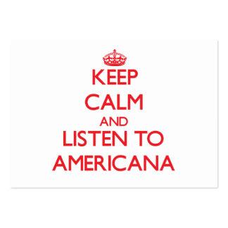 Mantenha a calma e escute a AMERICANA