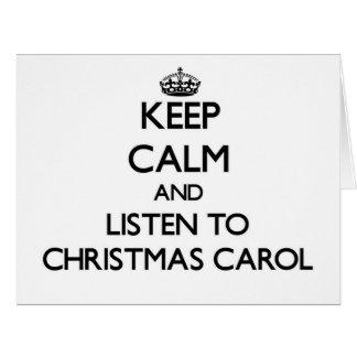 Mantenha a calma e escute a CANÇÃO DE NATAL do Cartoes