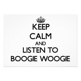 Mantenha a calma e escute a DANÇA WOOGIE Convite Personalizado