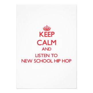 Mantenha a calma e escute a ESCOLA NOVA HIP HOP