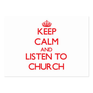 Mantenha a calma e escute a igreja