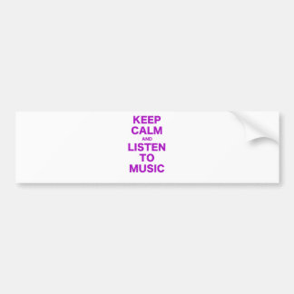 Mantenha a calma e escute a música adesivo para carro