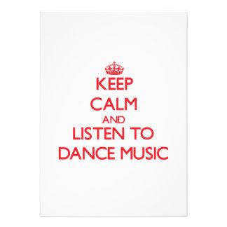 Mantenha a calma e escute a MÚSICA de DANÇA