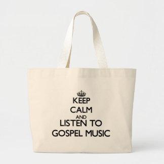 Mantenha a calma e escute a MÚSICA de EVANGELHO Bolsas De Lona