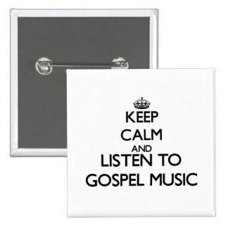 Mantenha a calma e escute a MÚSICA de EVANGELHO Pins