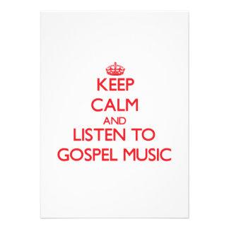 Mantenha a calma e escute a MÚSICA de EVANGELHO Convites Personalizados