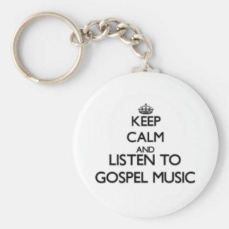Mantenha a calma e escute a MÚSICA de EVANGELHO Chaveiro